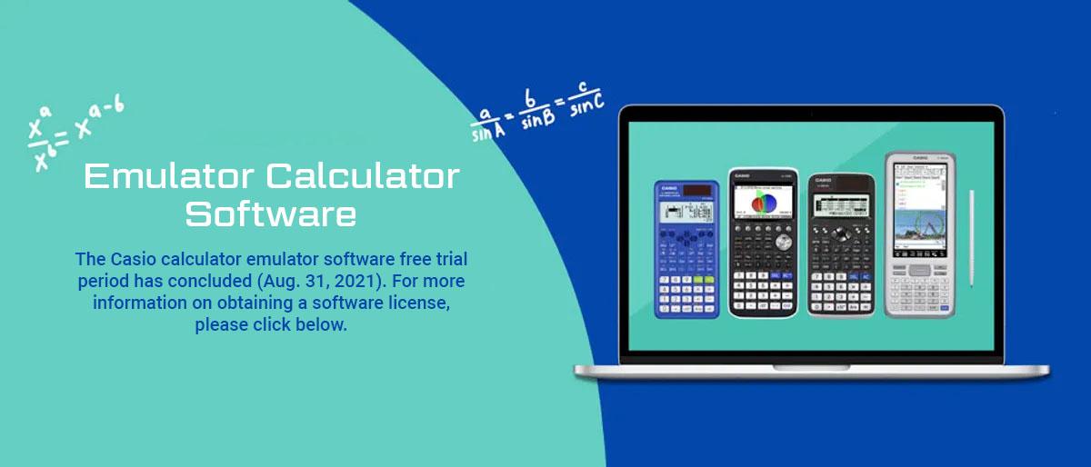 Casio cares - emulator calculator software - software that emulates casio's most popular scientific and graphing calculators